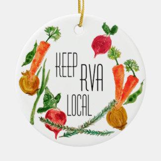 Go Local-RVA Ceramic Ornament