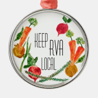 Go Local-RVA Metal Ornament