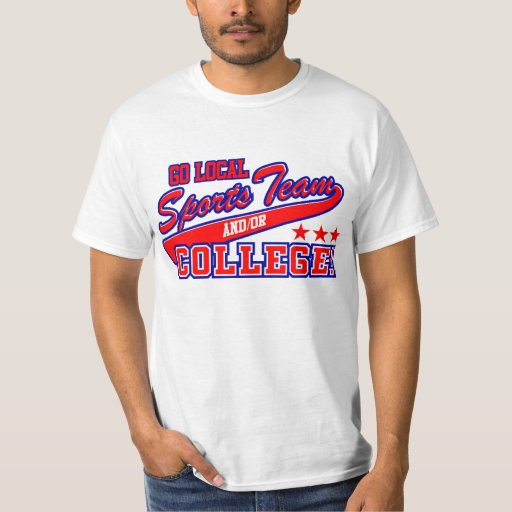 Go local sports team and or college t shirt zazzle for Local t shirt printing companies