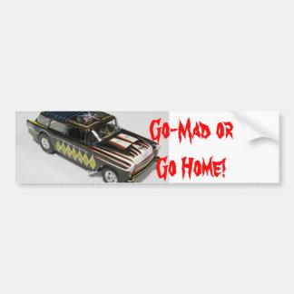 Go-Mad Bumper Sticker