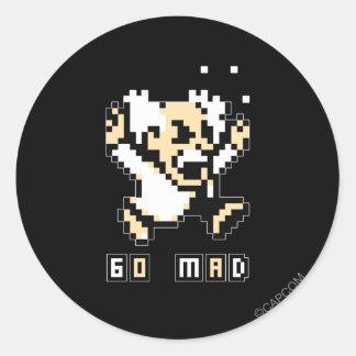 Go Mad! Classic Round Sticker