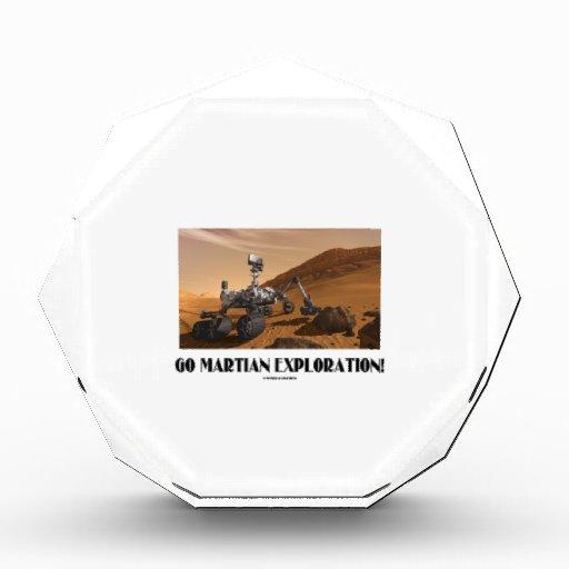 Go Martian Exploration! (Mars Rover Curiosity) Acrylic Award