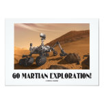 "Go Martian Exploration! (Mars Rover Curiosity) 5"" X 7"" Invitation Card"