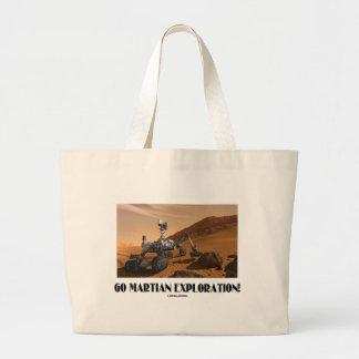 Go Martian Exploration! (Mars Rover Curiosity) Large Tote Bag