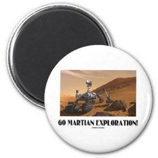 Go Martian Exploration! (Mars Rover Curiosity) Refrigerator Magnets