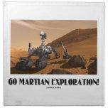 Go Martian Exploration! (Mars Rover Curiosity) Printed Napkin