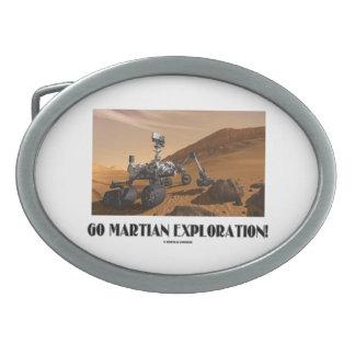 Go Martian Exploration! (Mars Rover Curiosity) Oval Belt Buckle
