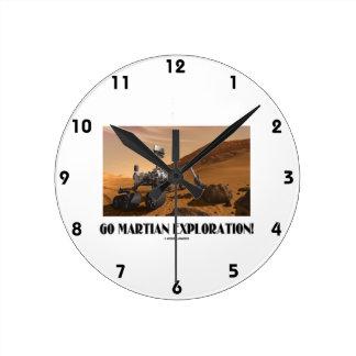 Go Martian Exploration! (Mars Rover Curiosity) Round Clock