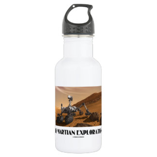 Go Martian Exploration! (Mars Rover Curiosity) Stainless Steel Water Bottle