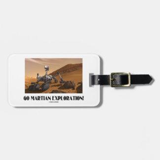 Go Martian Exploration! (Mars Rover Curiosity) Tag For Luggage