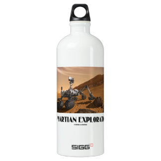 Go Martian Exploration! (Mars Rover Curiosity) Water Bottle