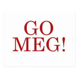 Go Meg Postcard