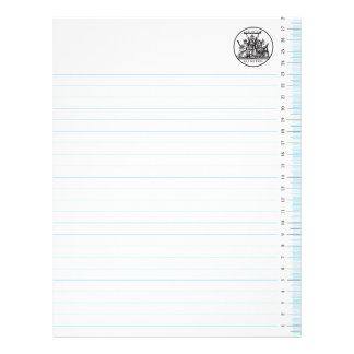 Go Metric Blue With Lines Letterhead