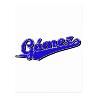 Gómez en azul tarjeta postal
