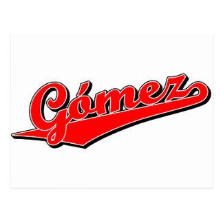 Gómez in Red Postcard