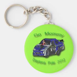Go Mommy Daytona Pole 2012 Danica Patrick Basic Round Button Keychain