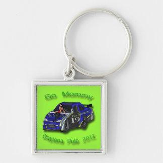 Go Mommy Daytona Pole 2012 Danica Patrick Silver-Colored Square Keychain