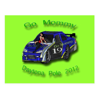 Go Mommy Daytona Pole Position 2012 Postcard