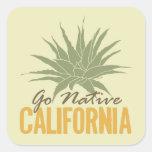 Go Native California Square Sticker