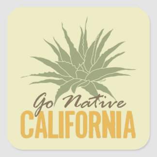 Go Native California Square Sticker