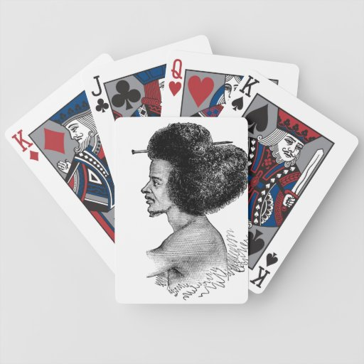 Go Natural Afro Bicycle Playing Cards