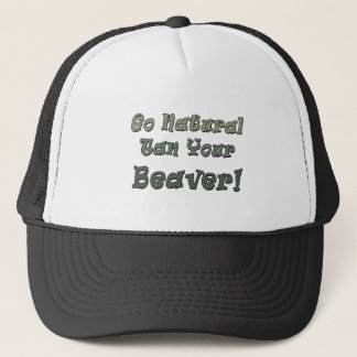 Go Natural Tan Your Beaver Trucker Hat