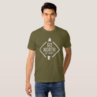 Go North Be Happy - Minnesota shirt white