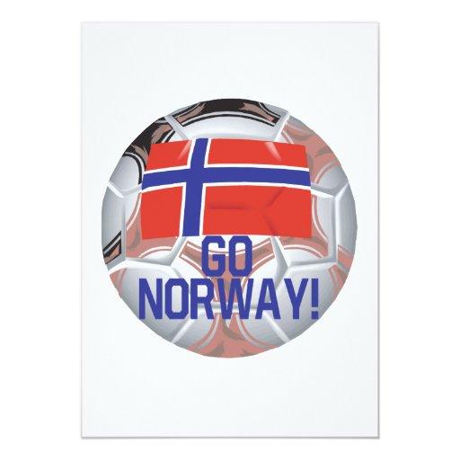 Go Norway 5x7 Paper Invitation Card