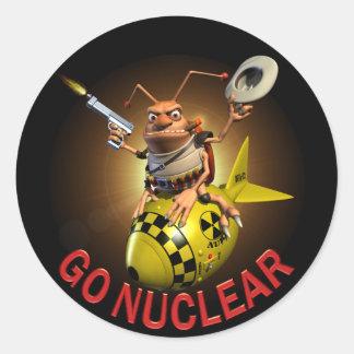 Go Nuclear Classic Round Sticker
