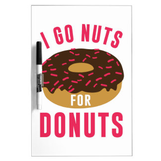 Go Nuts For Donuts Dry Erase Board
