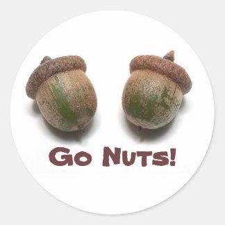 Go Nuts! Sticker