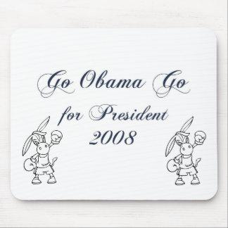 Go Obama Go for President  2008 2 Mouse Pad