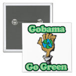 Go Obama Go Green 2 Inch Square Button