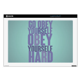 "Go obey yourself, obey yourself hard decal for 17"" laptop"