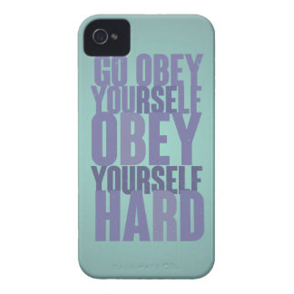 Go obey yourself, obey yourself hard iPhone 4 Case-Mate case