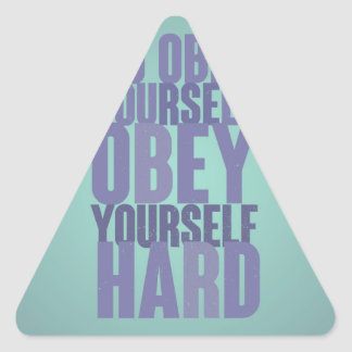 Go obey yourself, obey yourself hard triangle sticker