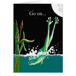 Go on, take the plunge! greeting card