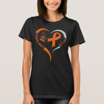 go orange kidney cancer awareness heart T-Shirt