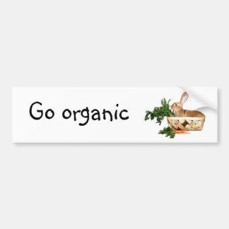 Go organic car bumper sticker