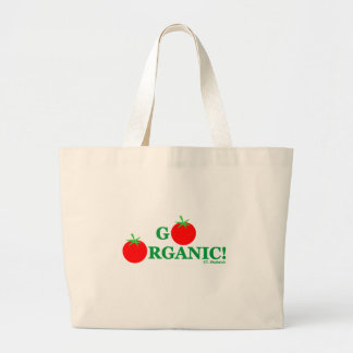 Go Organic Cooking and Gardening Grocery Large Tote Bag