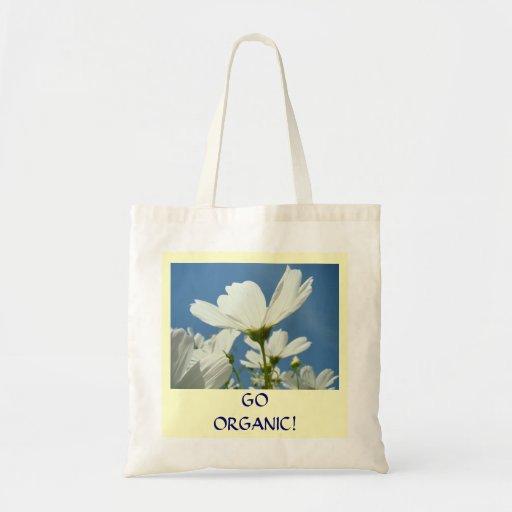 GO ORGANIC! Daisy Flower Organic Tote Bag