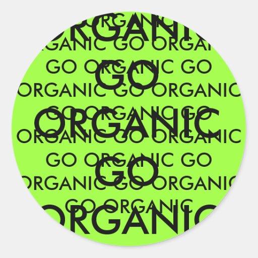 GO ORGANIC GO ORGANIC GO ORGANIC GO ORGANIC GO ... ROUND STICKER