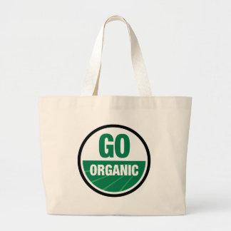 Go Organic Jumbo White Tote Bag