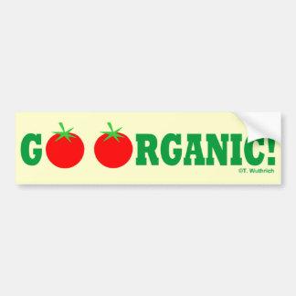 GO ORGANIC! Organic Gardening Bumper Sticker