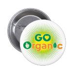 Go Organic Pinback Buttons