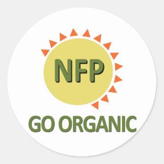 Go Organic, Practice NFP Classic Round Sticker