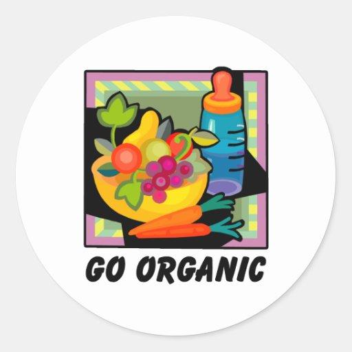 Go Organic Round Sticker
