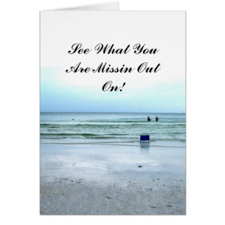 Go Out Wading In The Water! Card