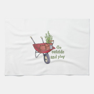 GO OUTSIDE AND PLAY HAND TOWEL