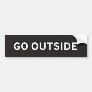 Go Outside Bumper Sticker